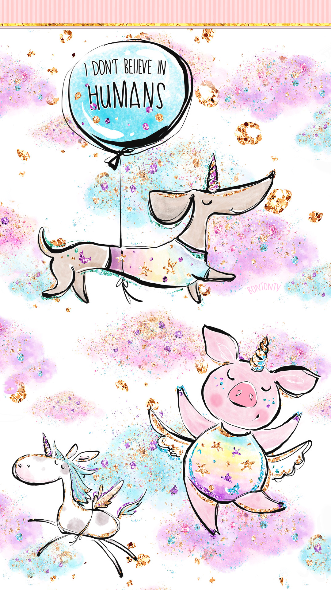 Phone Wallpapers Hd Cute Unicorn Glitter Art By Bonton Tv