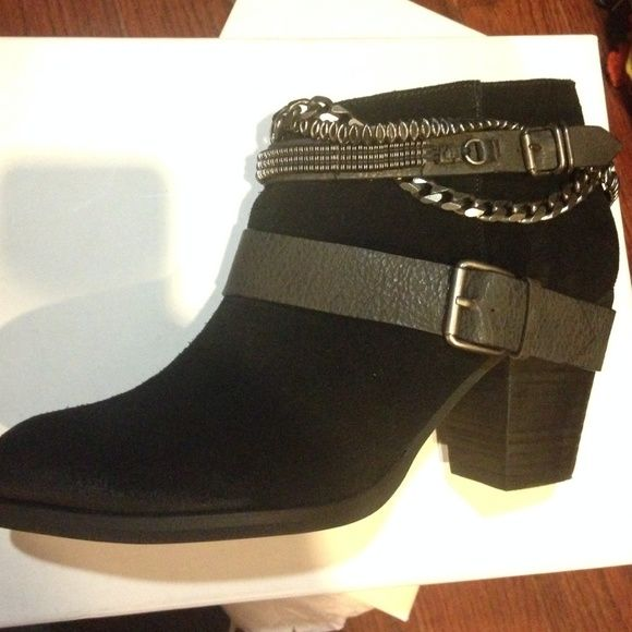 Brand new ankle boots Beautiful black suede Trouvé boots NWT in orig box never worn Trouve Shoes Ankle Boots & Booties