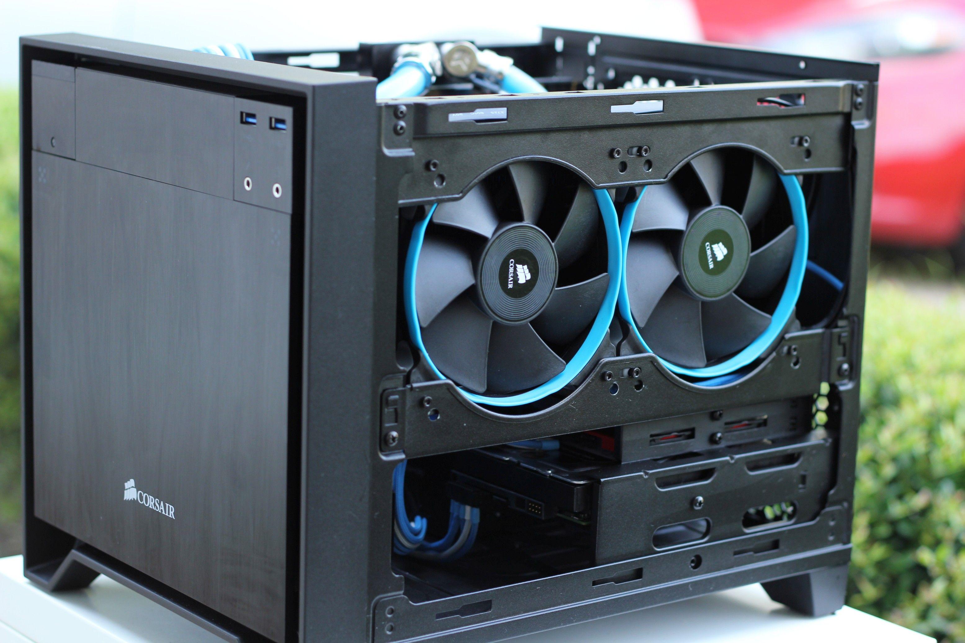 Custom Water Cooled Build Corsair 250d Computer Gear Custom