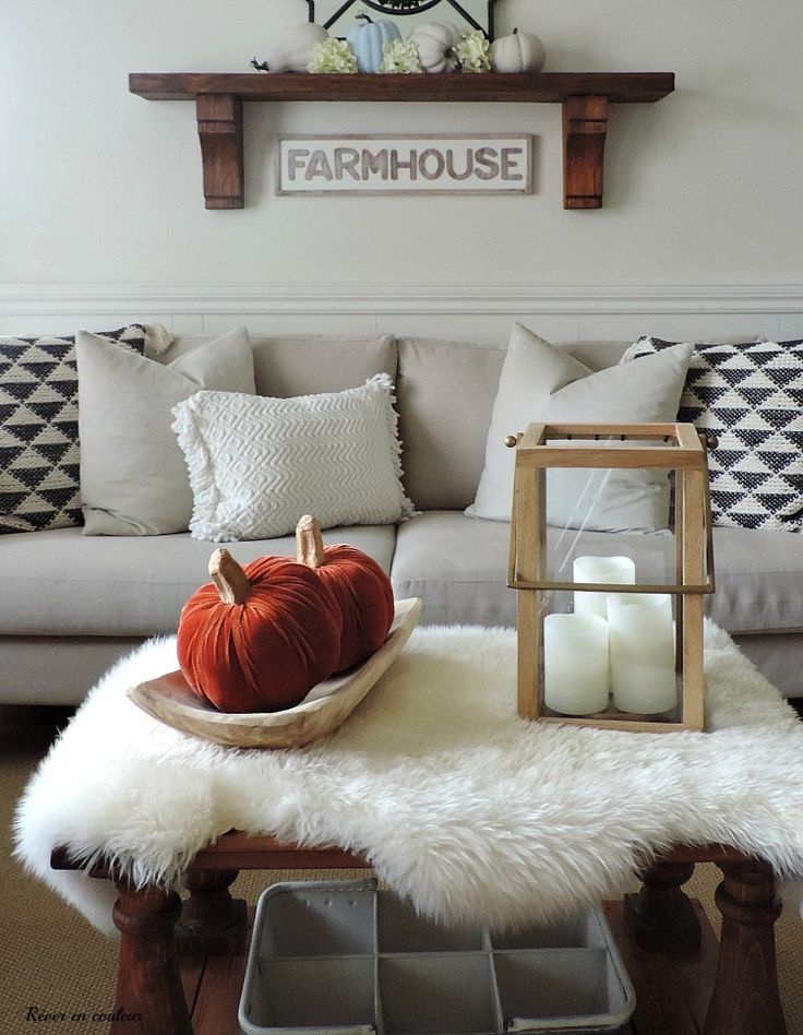 fall in the living room salon a l automne
