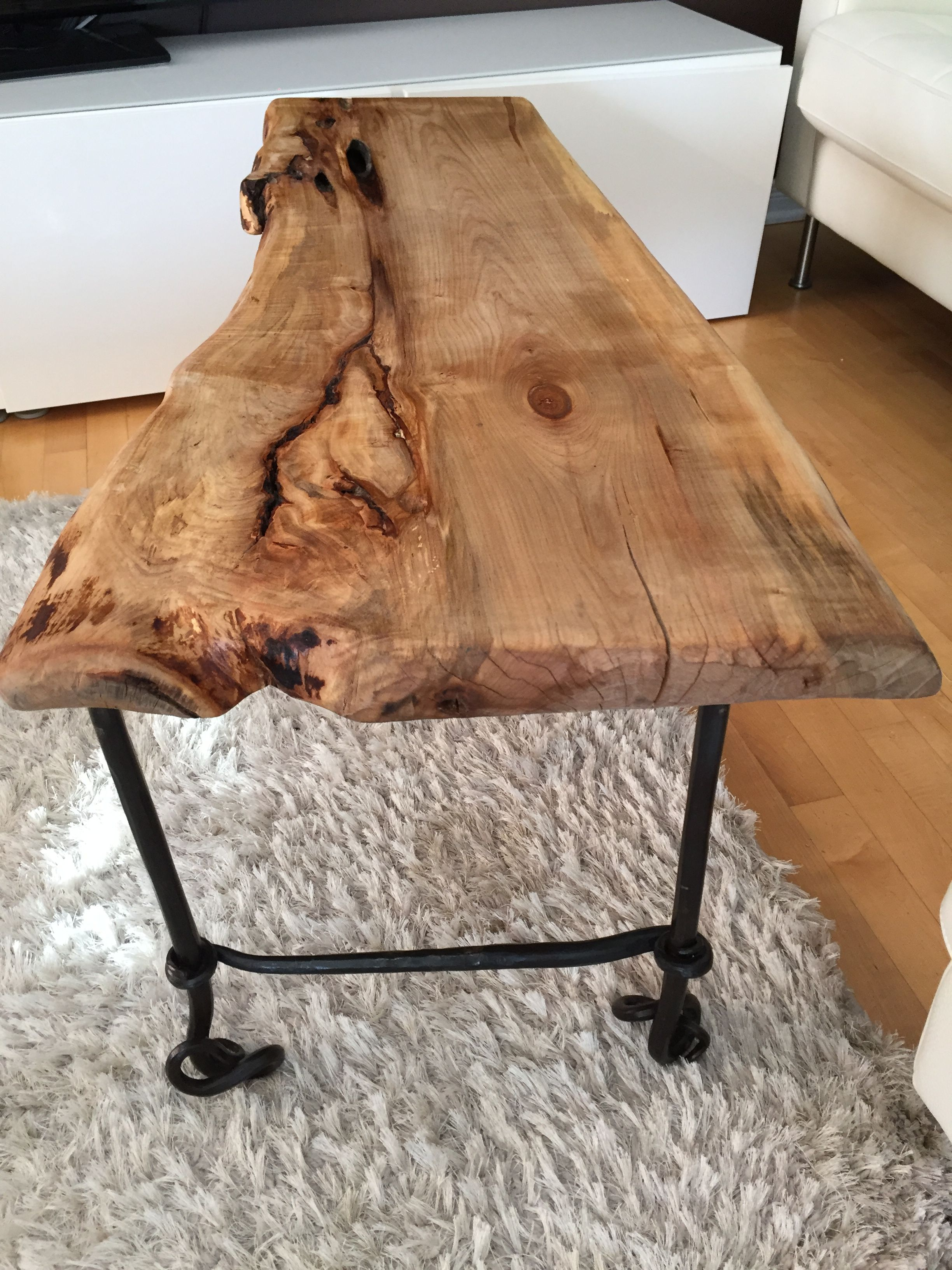 Live Edge Table With Hairpin Legs Live Edge Coffee Table With