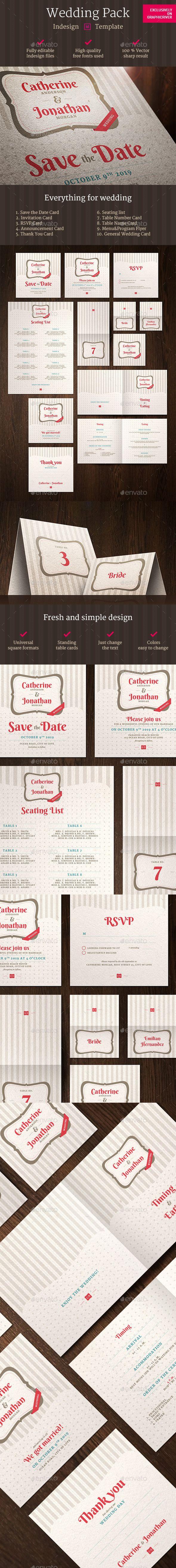 Wedding Pack Indesign Template   Indesign templates, Print templates ...