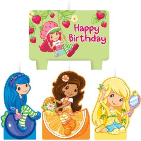 Strawberry Shortcake Birthday Candles