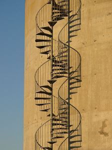 Double Helix Staircase Stairs Shadow Architecture Spiral Stairs