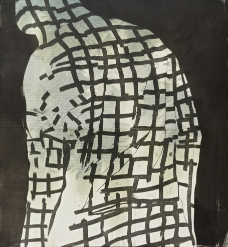 Ari Pelkonen, Technique: woodcut and acrylic on canvas