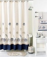 Avanti Bath Accessories Hampton Shells Shower Curtain Hooks