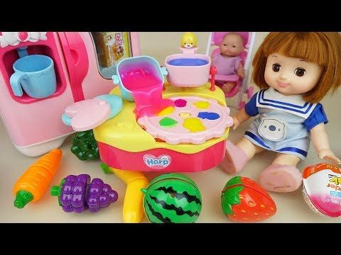 50c69357a Fruit and baby doll kitchen jelly cooking play baby Doli house - YouTube