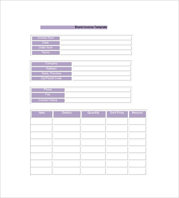 simple invoice template google docs