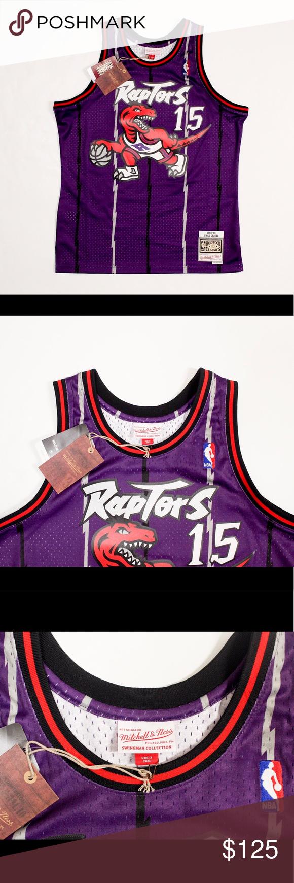 b3cba48bb62 Vince Carter 1998-99 HWC Swingman Jersey - Vince Carter 1998-99 Toronto  Raptors