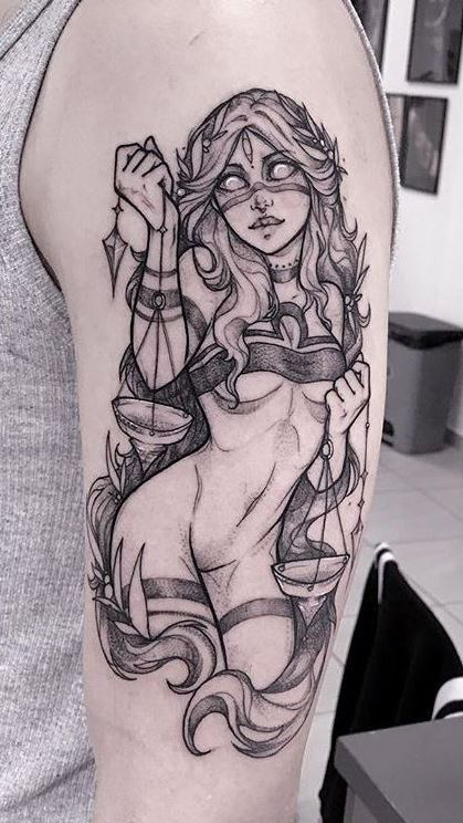 Libra Tattoo #epictattoos