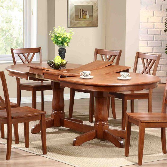 Iconic Furniture Oval Pedestal Dining Table Kitchen Pinterest - Oval farmhouse table and chairs