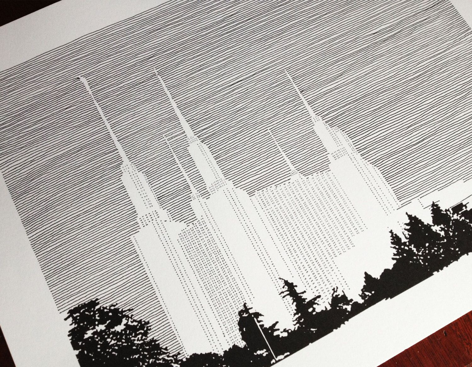 WASHINGTON DC LDS Temple (Original Drawing) Modern Ink Lines by TOTCtemples on Etsy https://www.etsy.com/listing/202459852/washington-dc-lds-temple-original