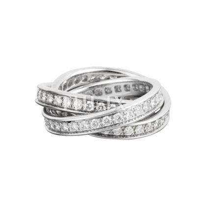 Replica Cartier Classic Diamonds 18k White Gold Ring 1 1 High Quality Cartier Ring Cartier Wedding Bands Trinity Ring Gold Diamond Wedding Band