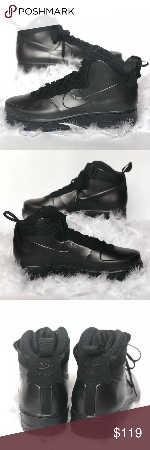 6cc4fcf4b688c Nike mens Air Force 1 Foamposite Cup Mid Black Men s size 7