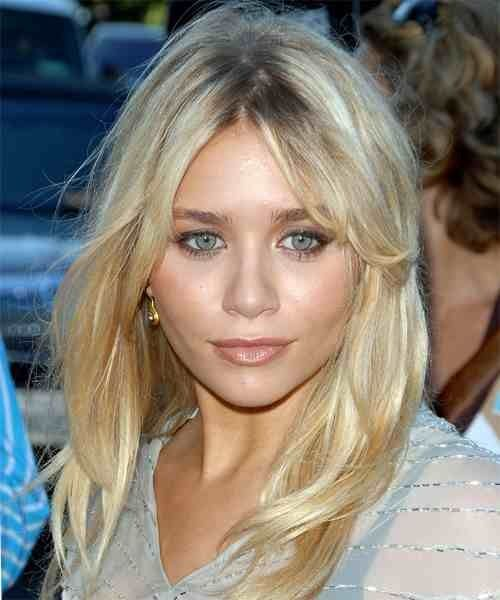 Middle Part Hairstyles Heart Shaped Faces Ashley Olsen Hair