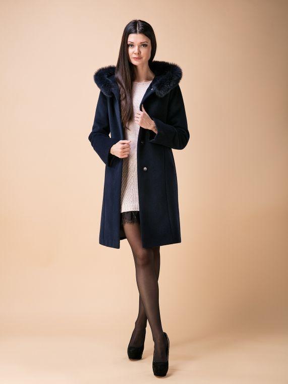 Пальто утепл. КМ318 Z P т.синий