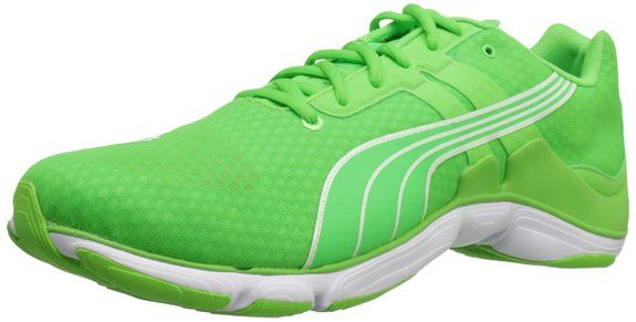 PUMA Mobium Elite Glow Running Shoe,Fluorescent Green,11.5