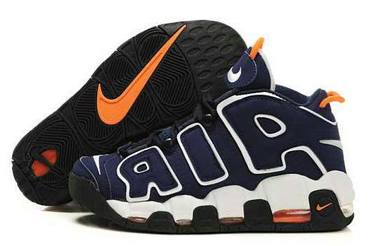 NBA Basketball Nike Air More Uptempo Deep Blue White - Scottie Pippen Shoes
