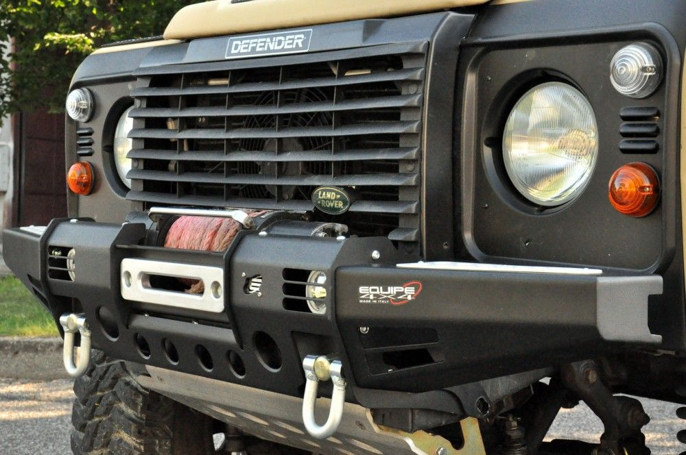 Paraurti Land Rover Defender Black Cover Winch - Equipe ...