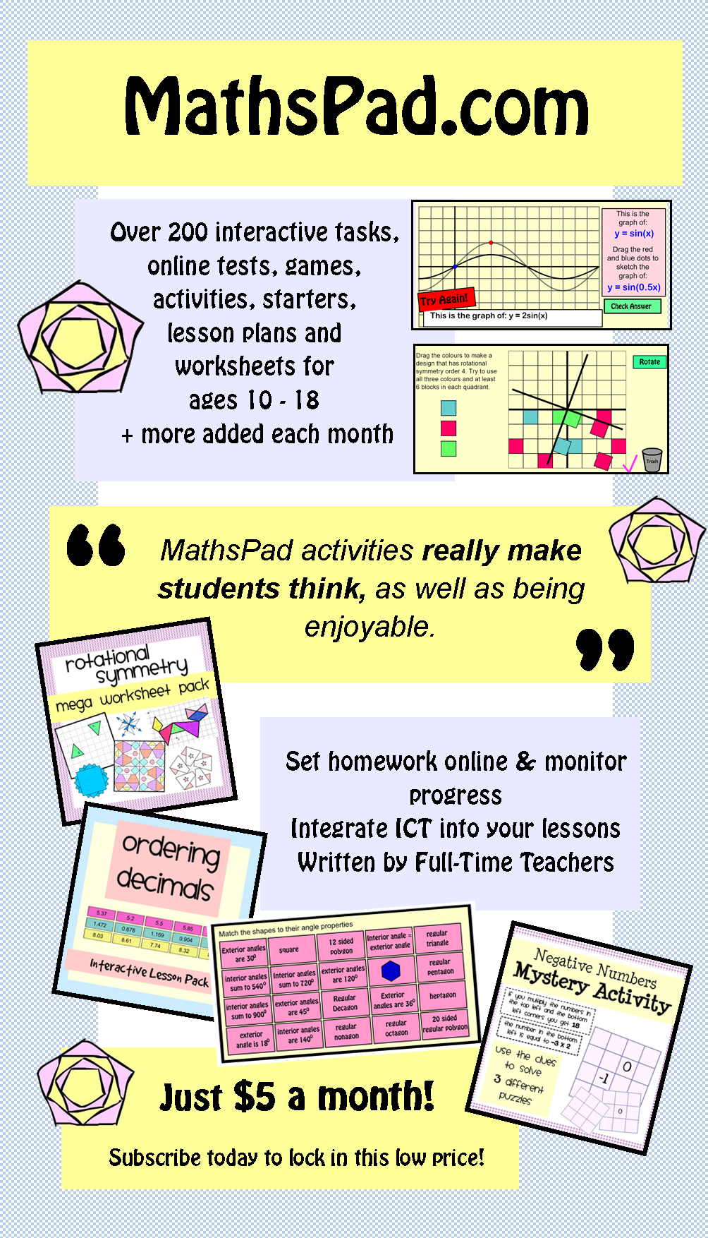 Free and subscription math resources for ages also maths rh pinterest
