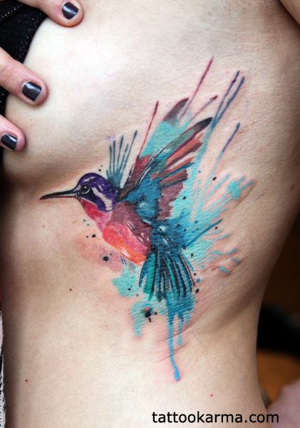 watercolor hummingbird tattoo - Google Search | I wanna tattoo ya ...