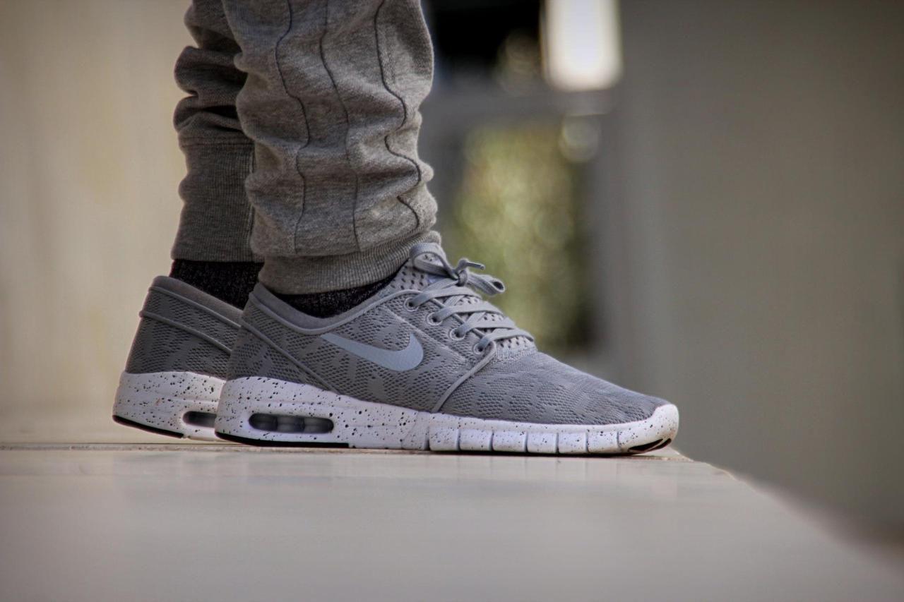 sweetsoles: Nike SB Janoski Max - Grey (by lescousinskashmiri)