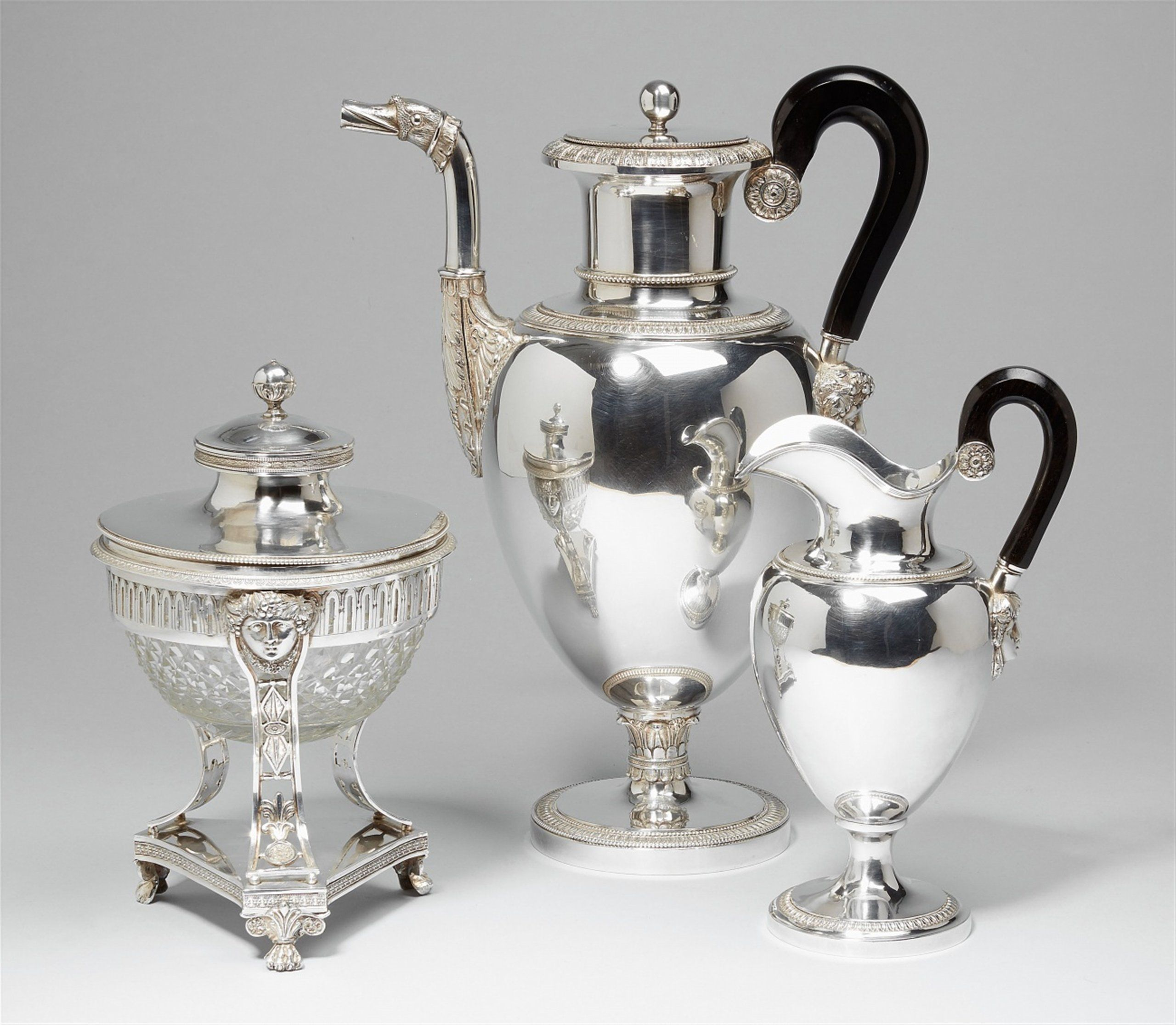 c1830 A neoclassical Brussels silver coffee service