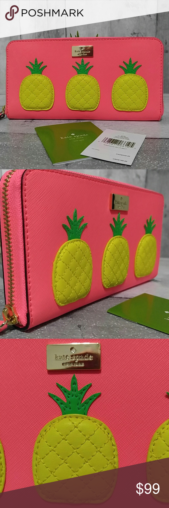 4721a1c539f7 Kate Spade 3D Pineapple Neda Wallet NWT Absolutely adorable New w tags Kate  Spade how refreshing