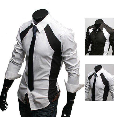 Men Business Shirt Men Dress Shirt Stylish Mens Shirts Men White ...