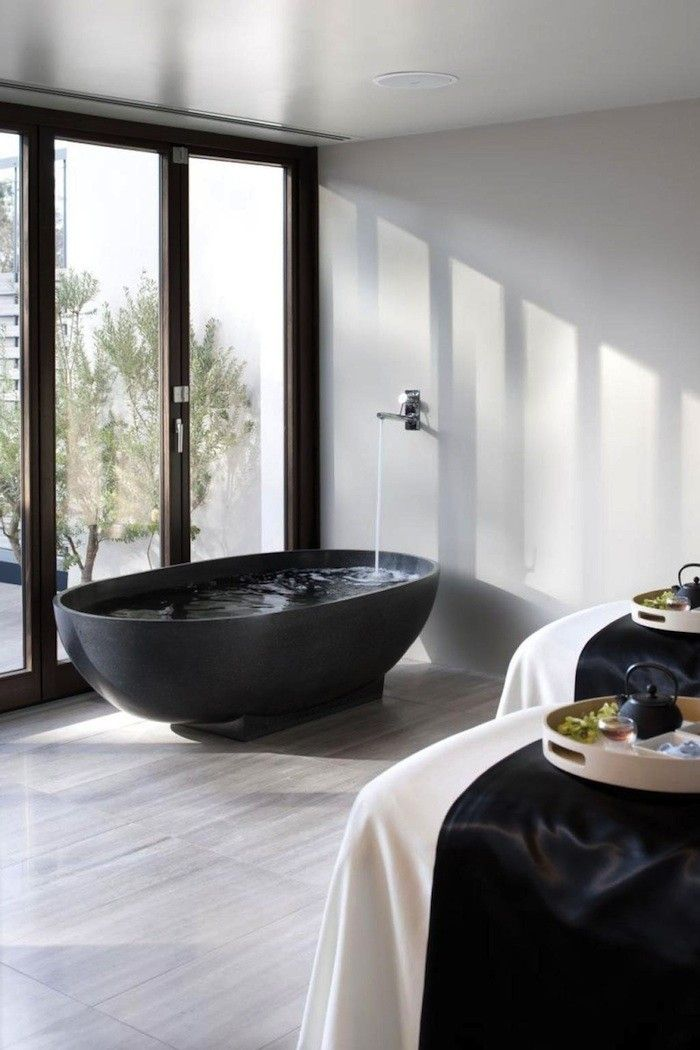 Dark Water: 10 Modern Black Bathtubs | Tubs, Black bathtub and Bathtubs