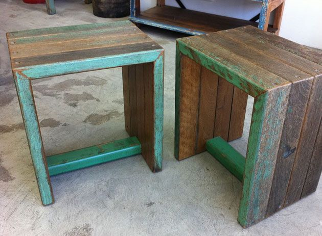 Recycled timber bench and side table by Retrograde Furniture  Melbourne    Upcycled Furniture Victoria   Pinterest   Melbourne  Door bench and Bench. Recycled timber bench and side table by Retrograde Furniture