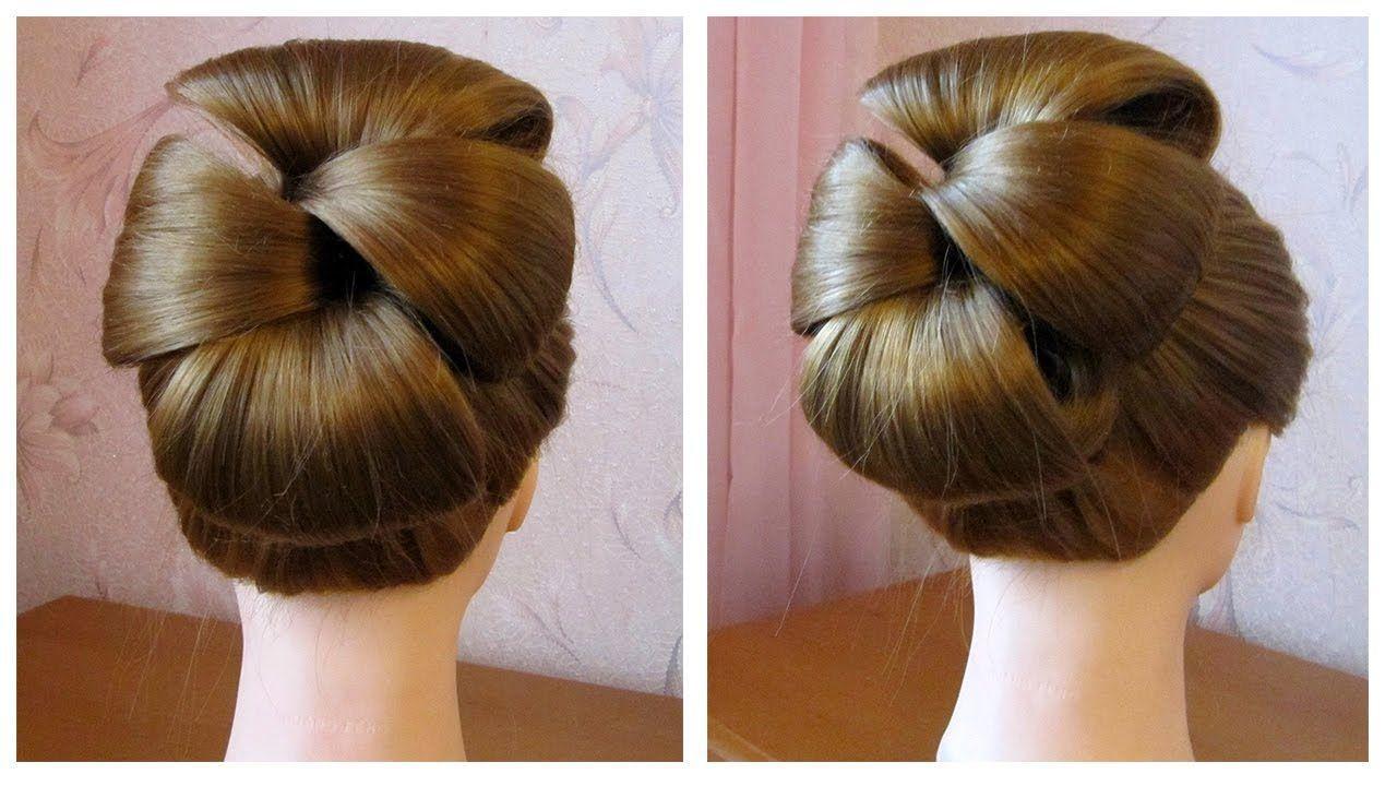 Сoiffure simple pour les fetes (soirée/mariage)★ Chignon cheveux mi long... | style hair ...