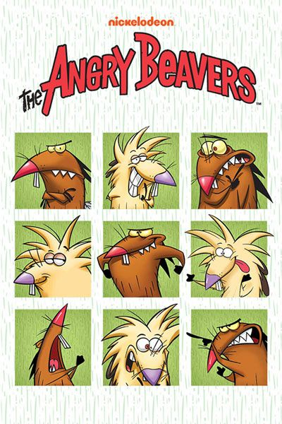 Ren And Stimpy Beaver Fever : stimpy, beaver, fever, Angry, Beavers, Shout!, Exclusive, Lithograph, Complete, Series, Cartoons,, Nickelodeon, Cartoon