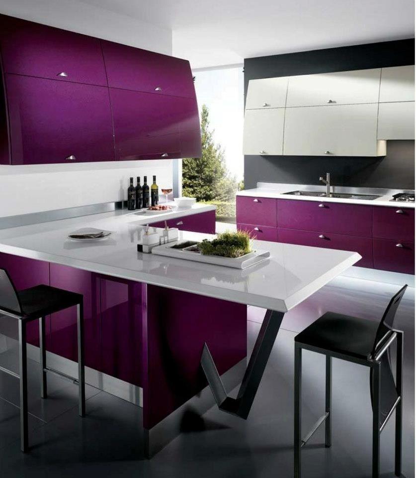 Color violeta buscar con google asi quiero mi apto - Cocina color lila ...