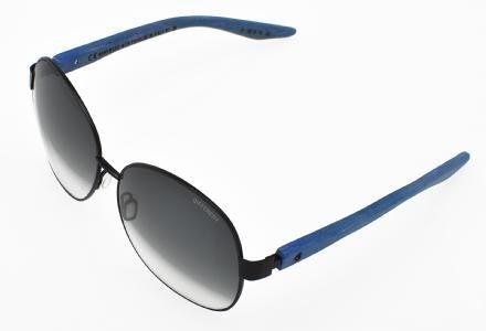 Different Eye Sunglasses. Sylvie Model. Carl Zeiss Vision Graded Lens. Black/ Signal Blue Colour. #different #eyewear #sunglasses #metal #wood #sylvie #collection #black #signal #blue