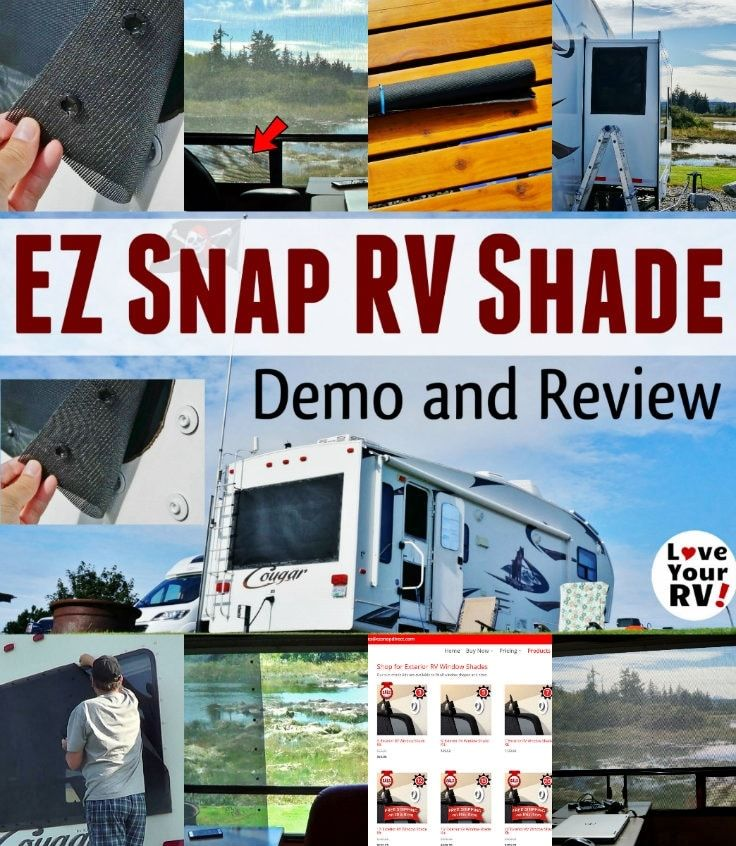 EZ Snap Exterior RV Window Shades RV Product Review by the Love Your RV  blog -