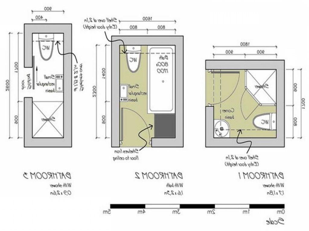 narrow bathroom floor plans