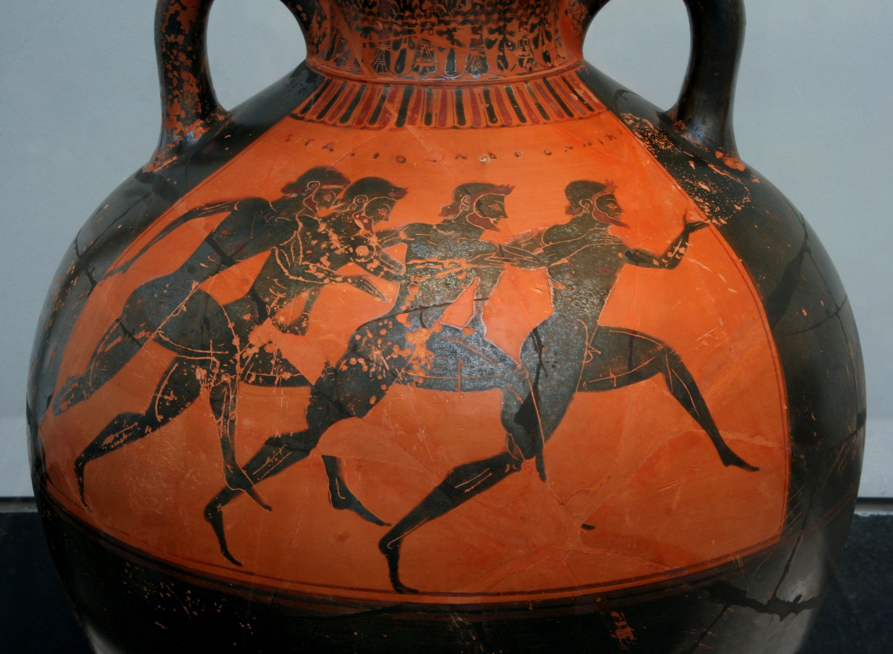 Greek vase with runners at the panathenaic games ca 530 bc greek vase with runners at the panathenaic games ca 530 bc artisans were reviewsmspy