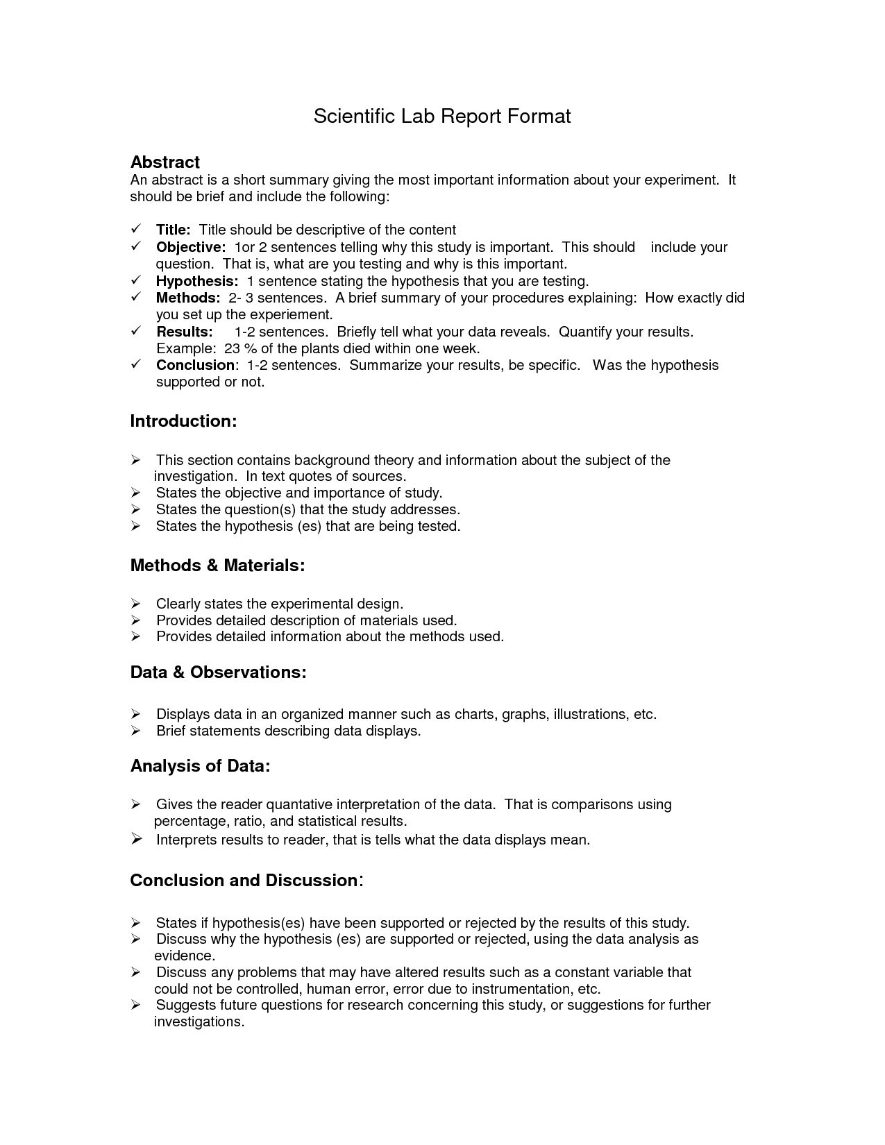 Lab Report Format Doc Environmental Science Lessons Lab With Regard To Biology Lab Report Temp Lab Report Template Lab Report Environmental Science Lessons