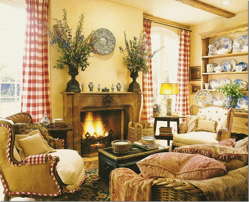 French Country Family Room   Need Something Bigger Over The Fireplace