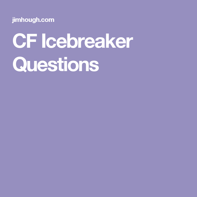 CF Icebreaker Questions | English | Pinterest | Counselling, Team ...