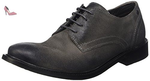 Benno, Derby Homme, Gris (Greasy Grey), 41 EU (7 UK)Base London