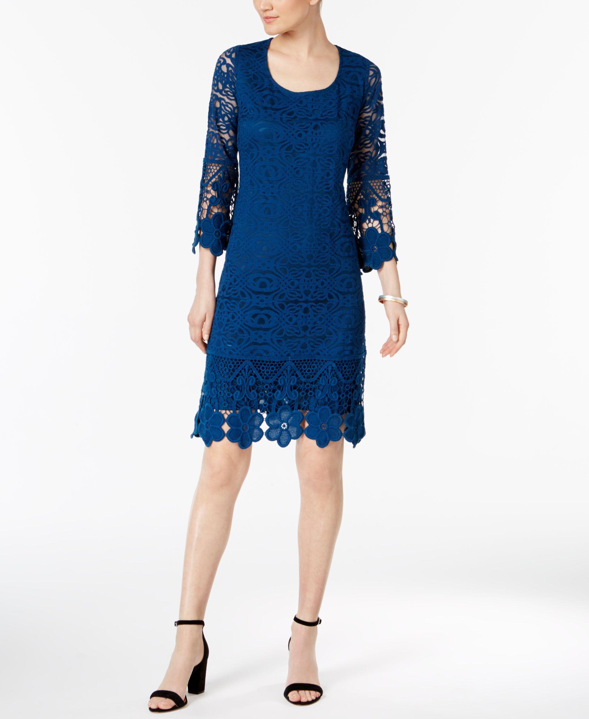 Alfani crochettrim illusion dress created for macyus illusion