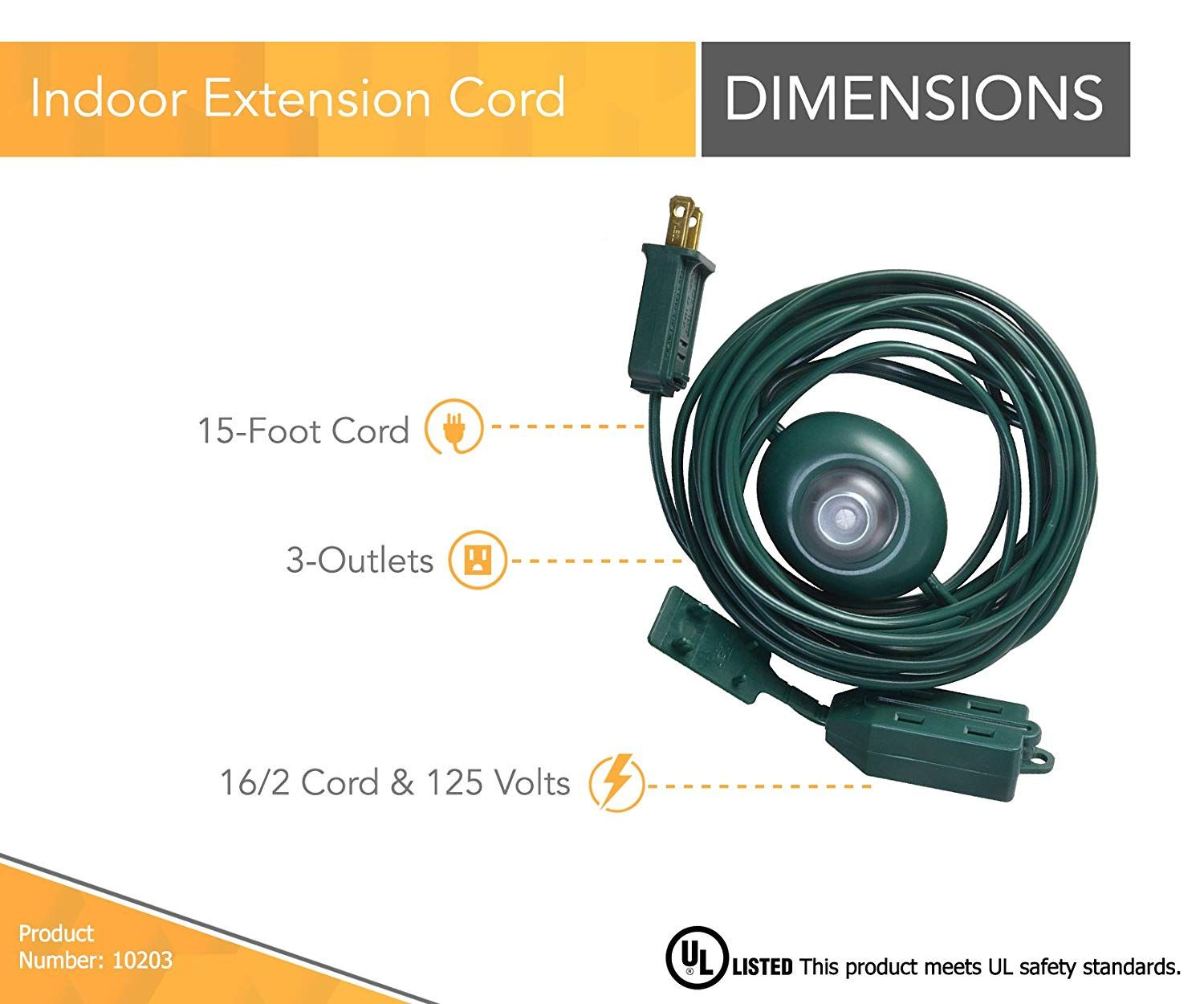 Woods Indoor Extension Cord With Lighted Foot Switch And 3 Outlets 15ft Green Visit The Picture Link Even More Information This Is An Affil With Images Christmas Tree