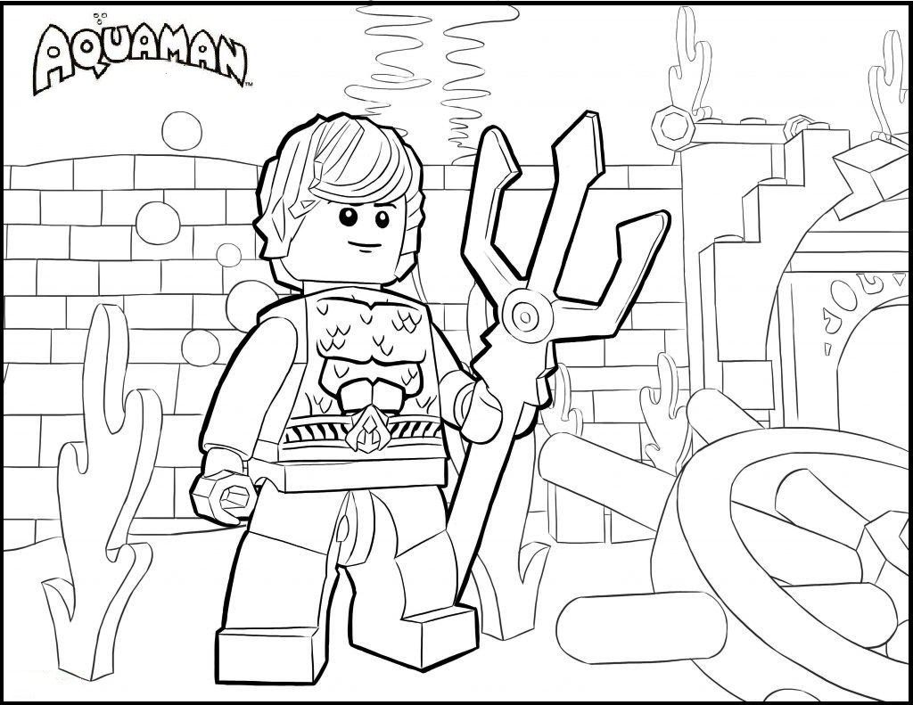 Lego Aquaman Coloring Pages | DC Comics Coloring Pages | Pinterest