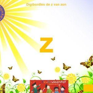 In deze les wordt de z-klank van zon aangeboden. De les bestaat uit twee verschillende vraagstellingen:  bij welk plaatje hoor je de letter ...