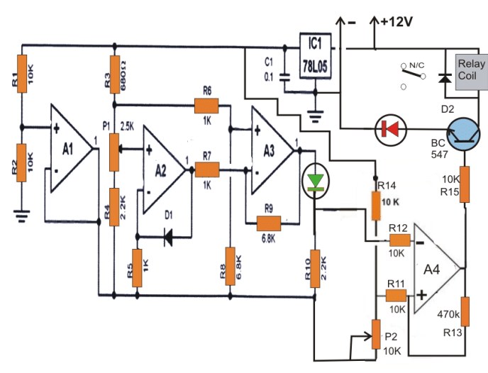 3 Accurate Refrigerator Thermostat Circuits Electronic Solid State Homemade Circuit Projects Thermostat Circuit Projects Circuit