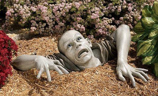 Cement Garden Faces | Cool Garden Statues And Decor: Create A DIY Statue