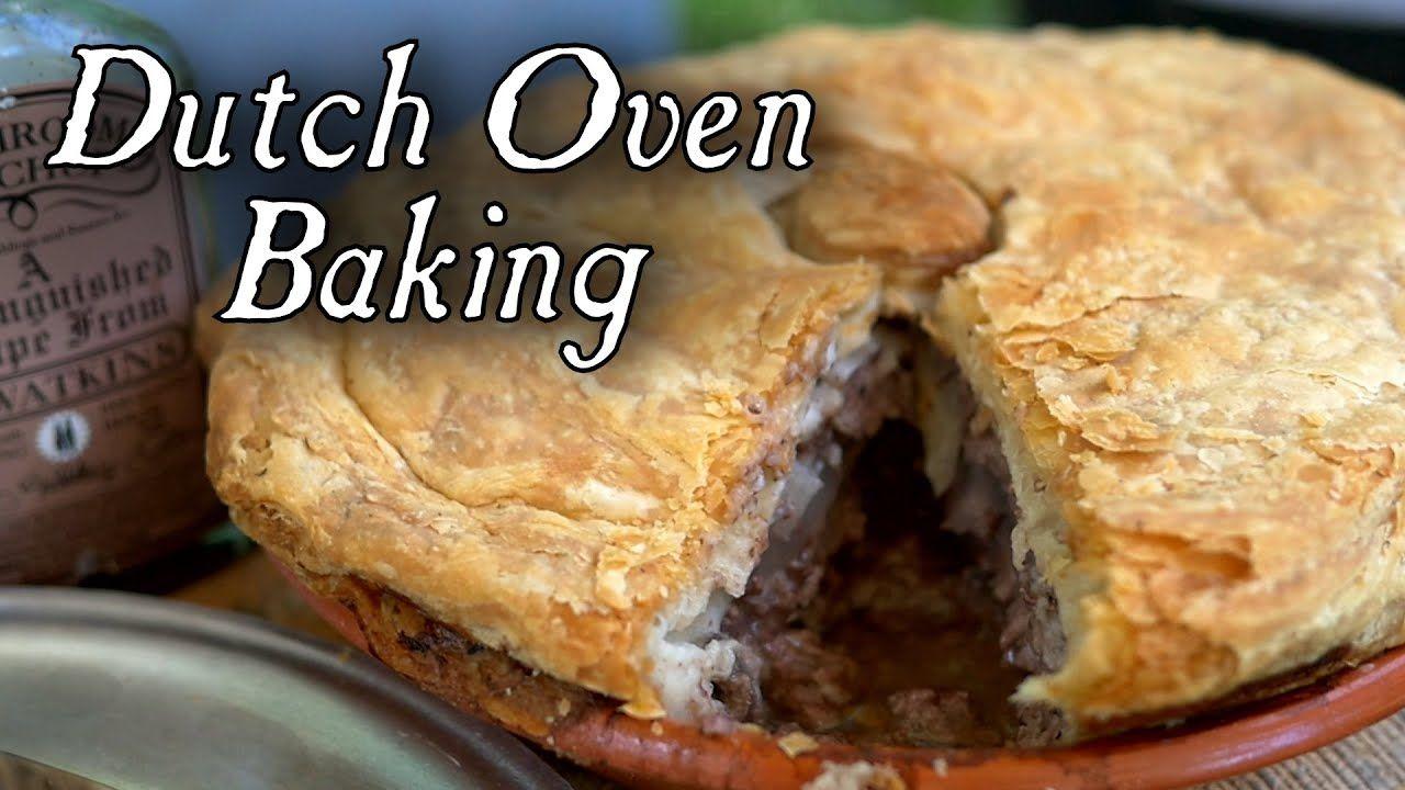 1796 Beef Steak Pie - Dutch Oven Baking - YouTube   Dutch ...