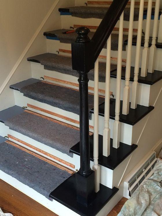 Good Black Stair Treads And Rail